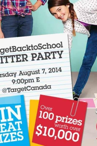 Target Canada #TargetBacktoSchool Twitter Party