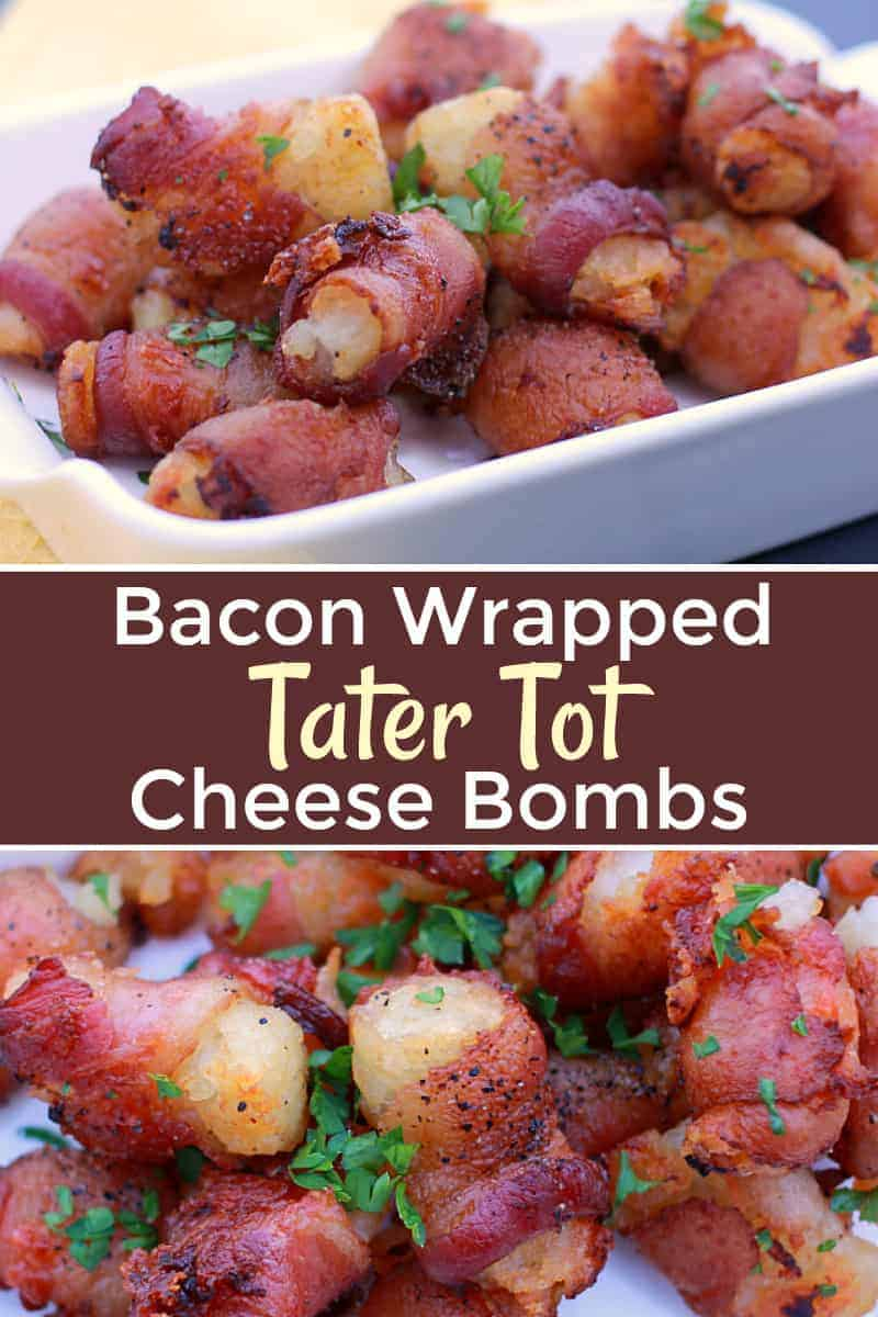Bacon Wrapped Tater Tot Cheese Bombs