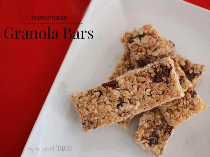 Homemade Granola Bars Recipe — Dishmaps