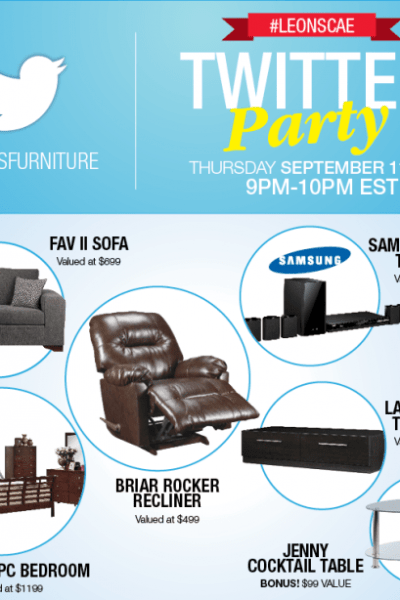 Come to the #LeonsCAE Twitter Party – Over $3000 in Prizes!
