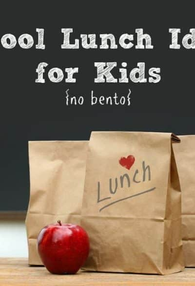 School Lunch Ideas for Kids {no bento, nut-free}