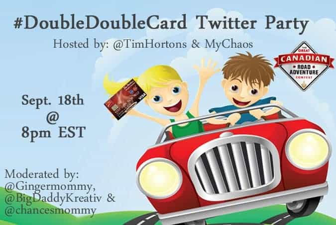 Announcing a Tim Hortons Twitter Party and a Contest! #DoubleDoubleCard