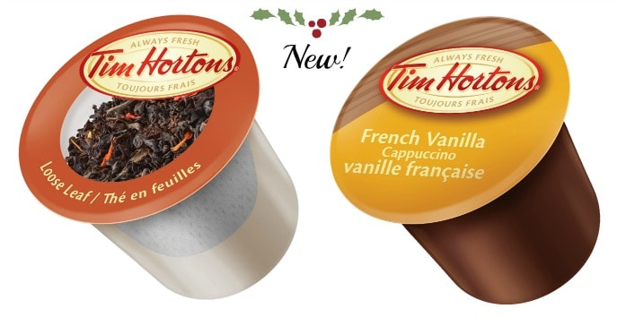 Steeped Tea and French Vanilla Cappuccino single serve tim hortons