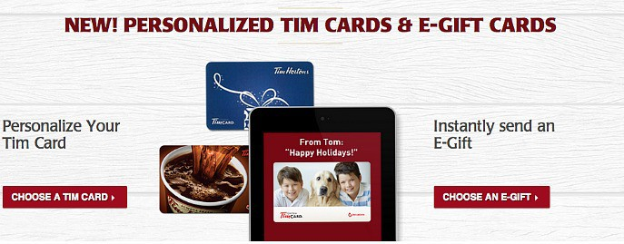 Tim Hortons E-Gifting