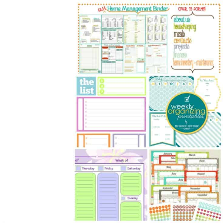 graphic regarding Organization Printables identified as 12 Cost-free Printable Bundles in direction of Prepare Your Property