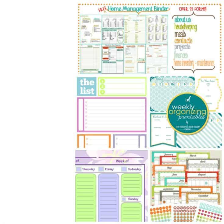 12 Free Printable Bundles To Organize Your Home