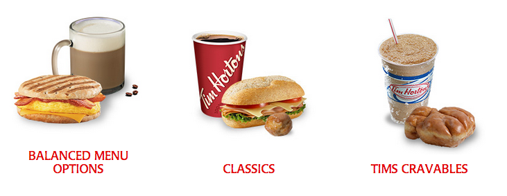 Nutrition Calculator on the Tim Hortons website