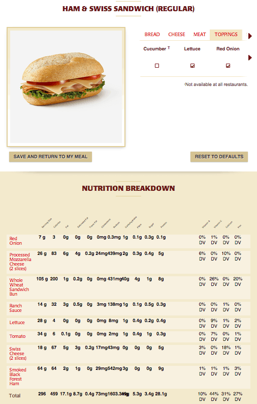 tim hortons balanced menu options More Good to Love