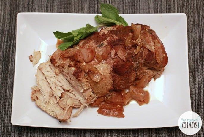 Slow Cooker Honey ginger Apple Pork Roast recipe