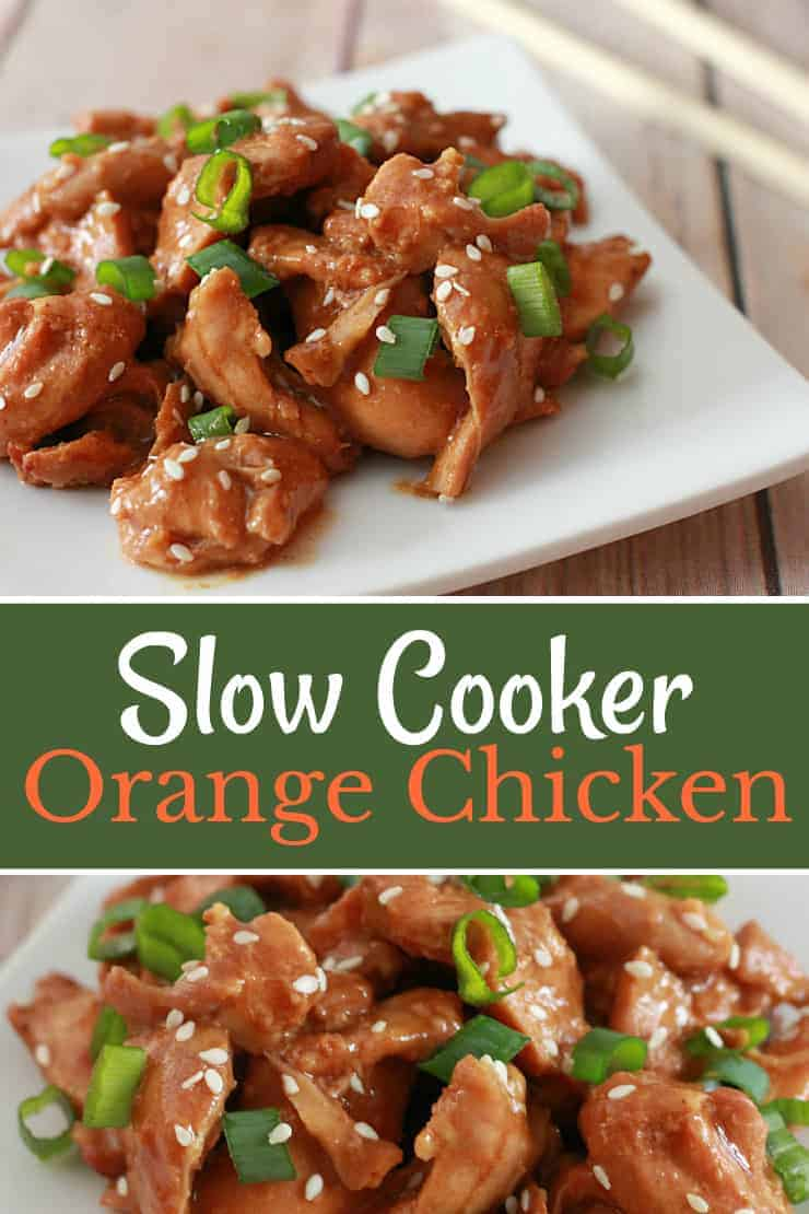 Slow Cooker Orange Chicken - using few ingredients, this recipe is a little sticky, a tad sweet and full of comforting flavour!