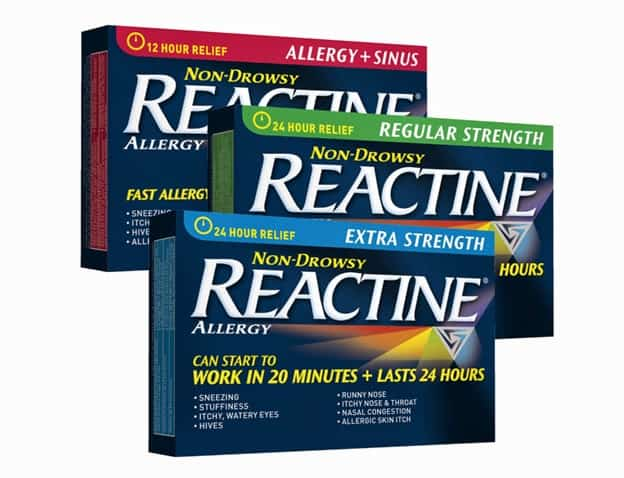 Reactine canada allergy medication