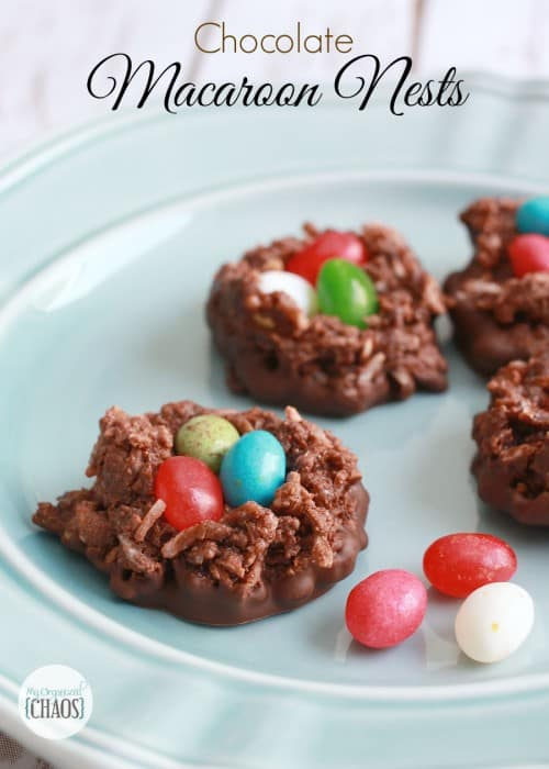 Chocolate Macaroon Nests are an easy and simple delicious Easter treat ...