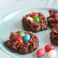 Chocolate Macaroon Nests