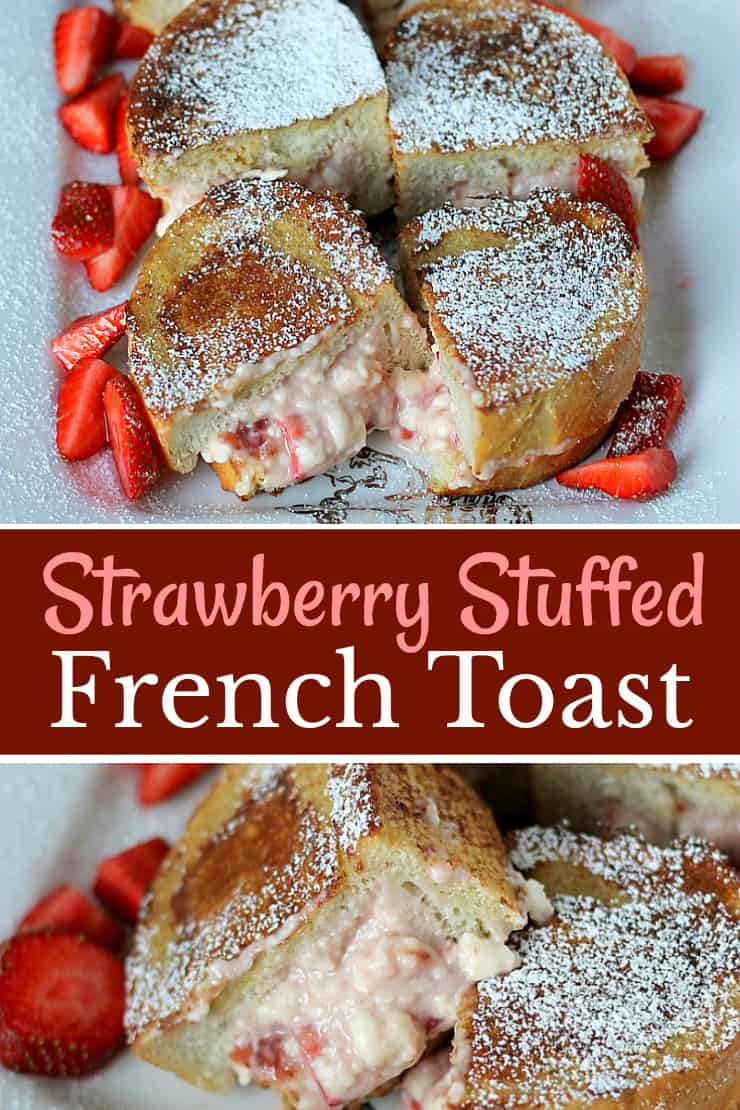 Strawberry Stuffed French Toast recipe - this is not ordinary french toast! It's decadent, sinful and so totally worth it!