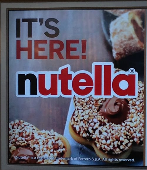 Announcing Nutella Baked Goods at Tim Hortons