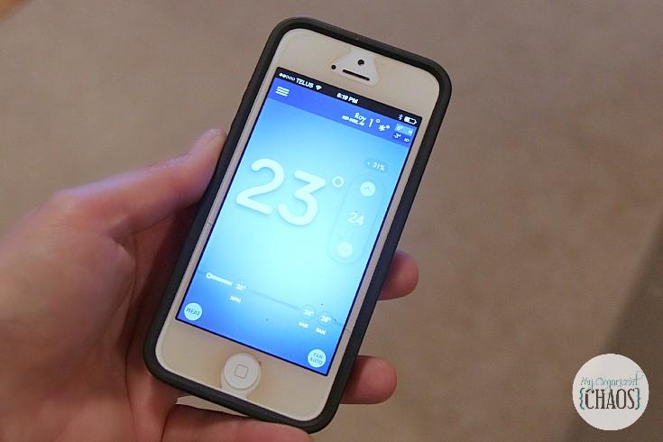 Emerson Sensi Wi-Fi Thermostat app phone