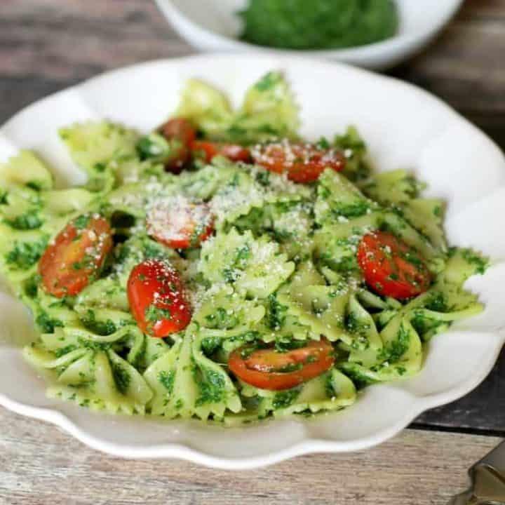 Healthy Kale Pesto Pasta