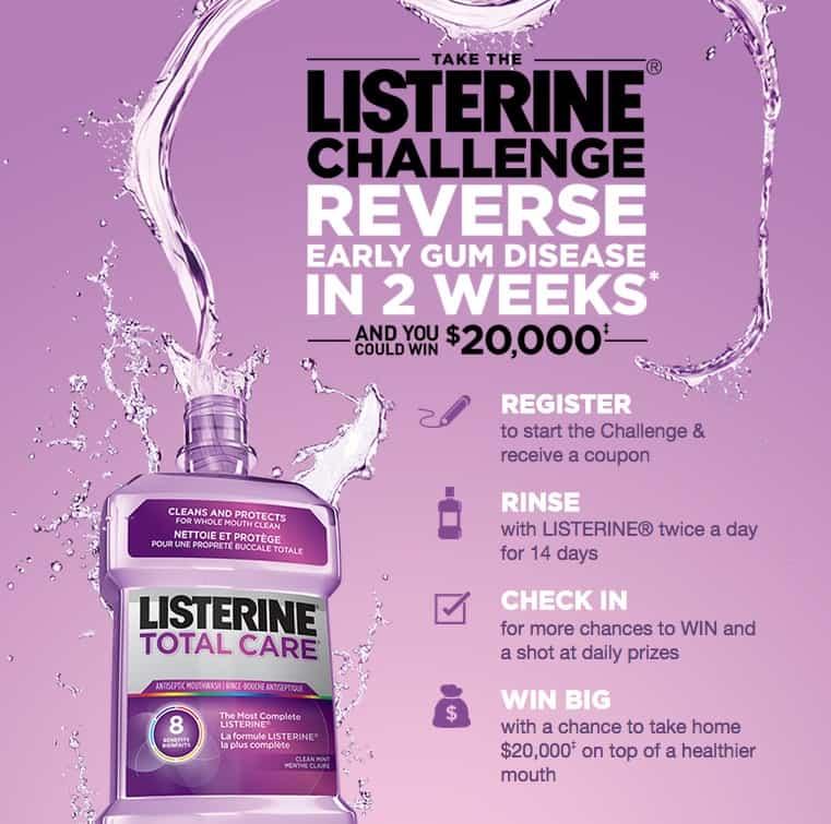 listerine challenge canada
