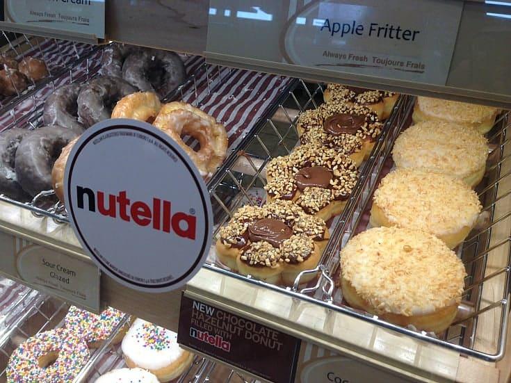 nutella donut tim hortons