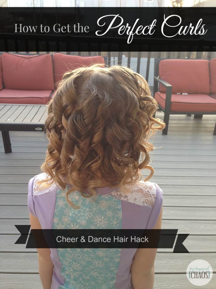 perfect curls cheer and dance hair hack