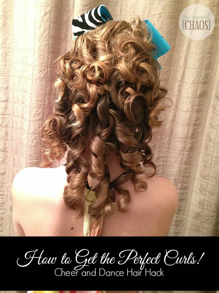 perfect ringlet curls cheer and dance hair hack