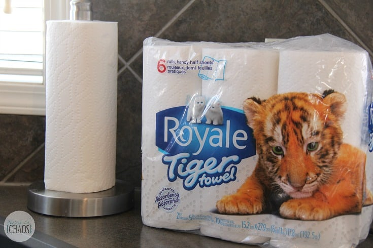 tiger towels kitchen clean-up challenge