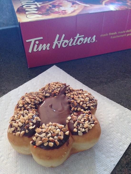 tim hortons nutella donut