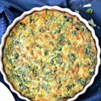 Spinach and Broccoli Quiche