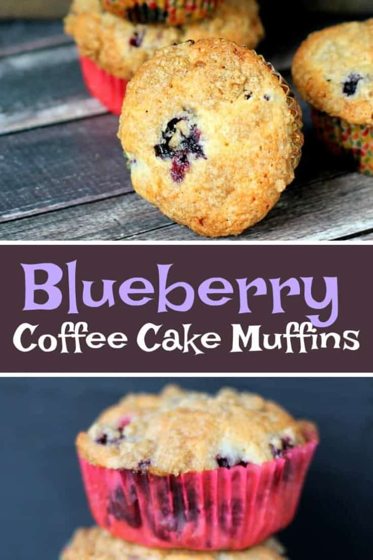 I have a soft-spot and mad-cravings for Blueberry Coffee Cake Muffins. Blueberries make this coffee cake even more moist, and that burst of berry flavour. #muffins #blueberrymuffins #coffeecake