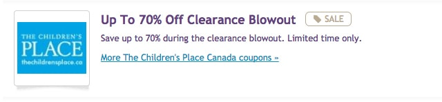 Childrens place coupons canada may 2018