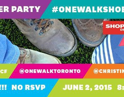 Come to the #OneWalkShoeSelfie Twitter Party on June 2nd