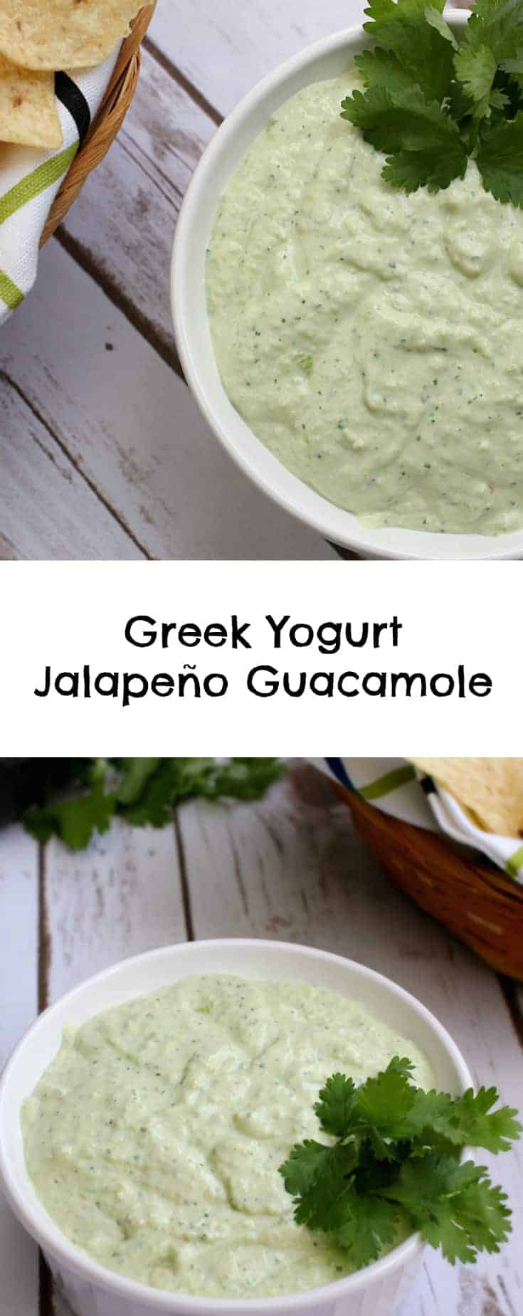 Greek Yogurt Jalapeño Guacamole dip recipe