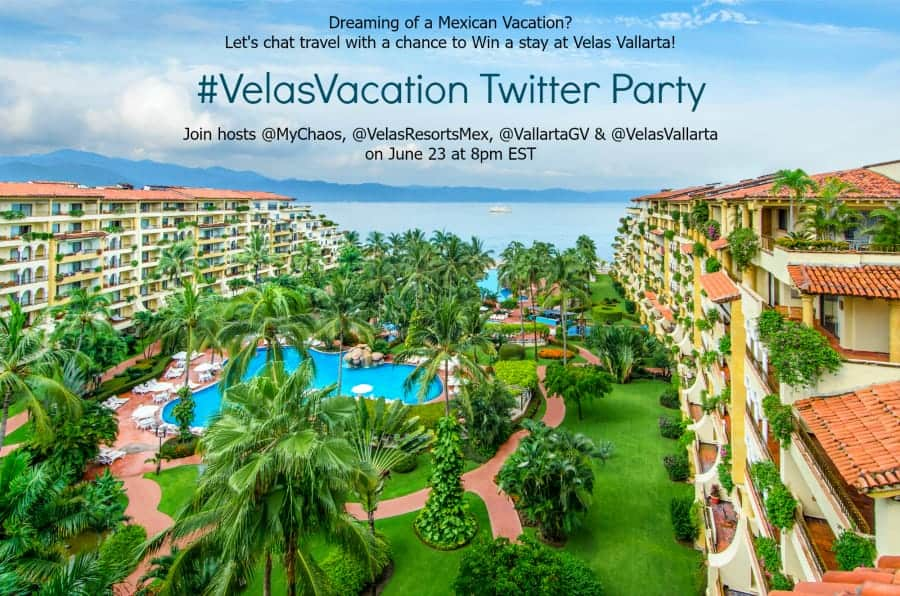 Win a Stay at Velas Vallarta Mexico at the #VelasVacation Twitter Party!