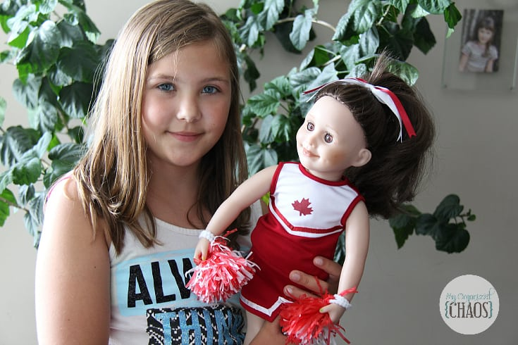 cheerleader doll outfit maplelea canada