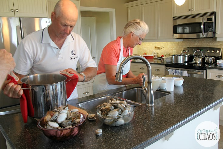 clam digging experience PEI catch and eat dinner