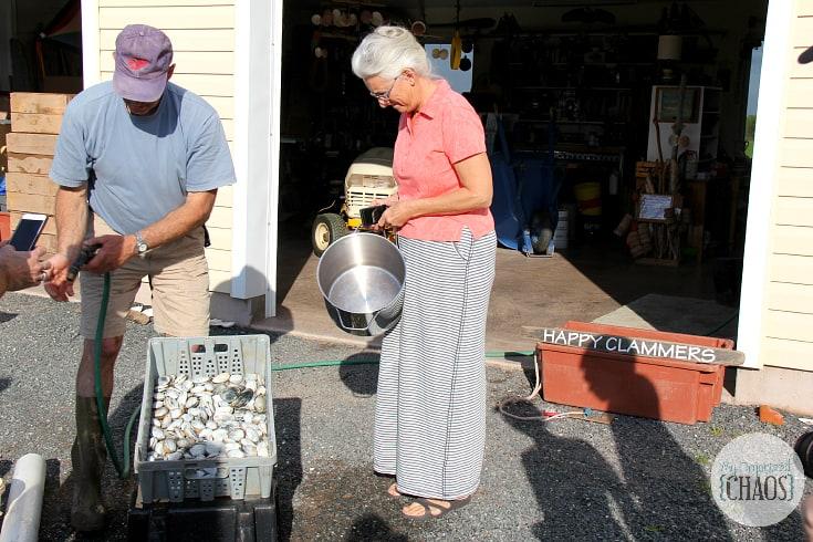 clam digging gilis home prince edward island fisherman family travel canada