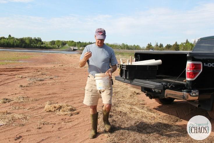 clamming digging gilbert gillis experience PEI authenticPEI