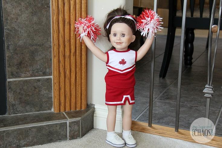 pom pom power cheerleader doll outfit