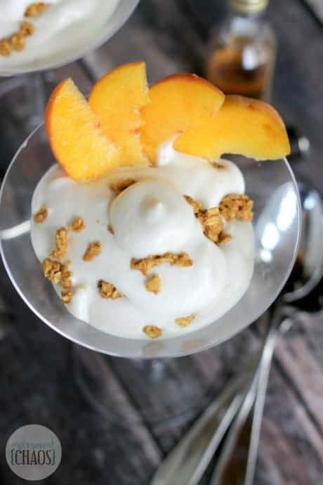 Boozy Peaches and Cream Parfait