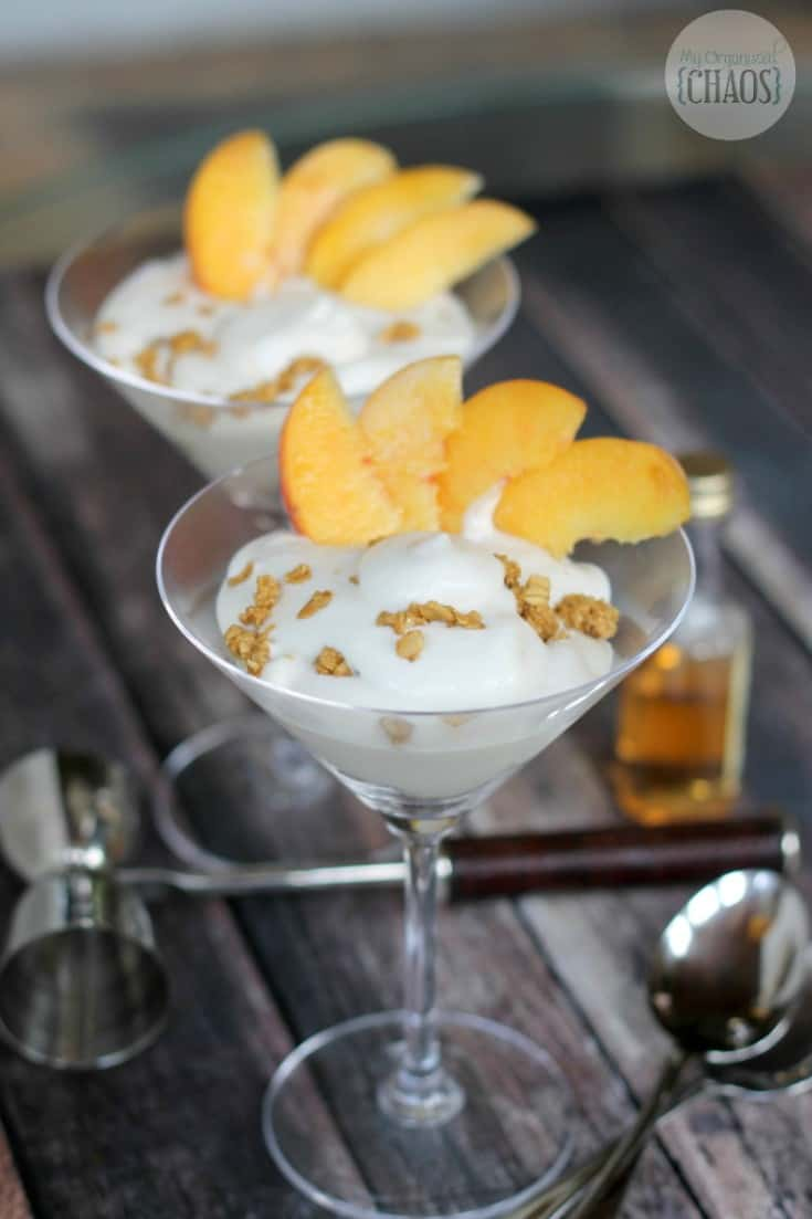 Boozy Peaches n' Cream Parfait