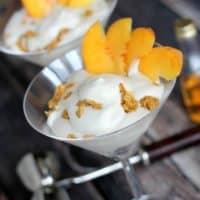 Boozy Peaches and Cream Parfait