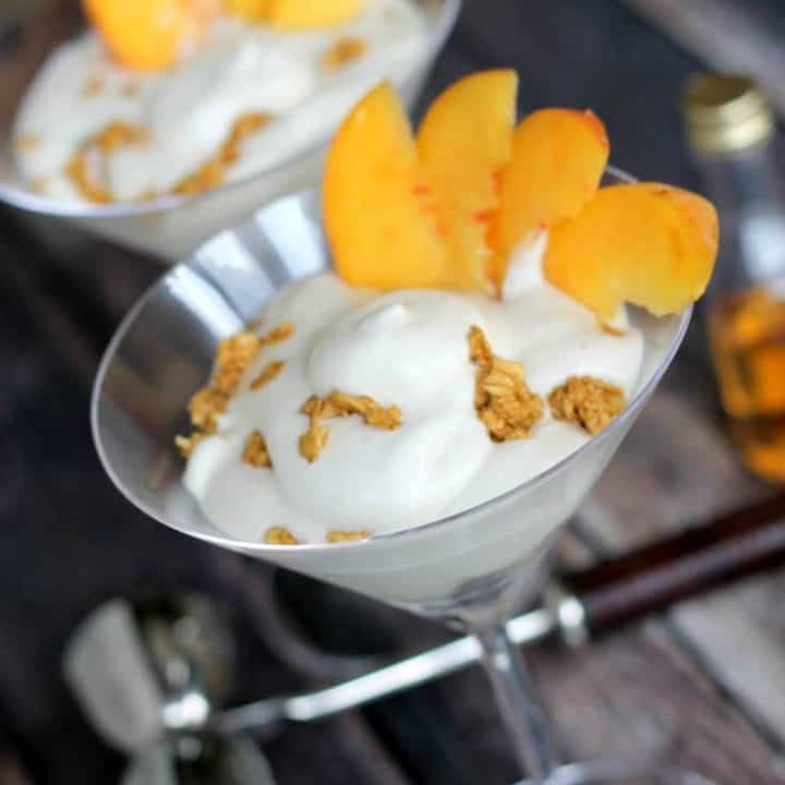 Boozy Peaches n' Cream Parfait recipe