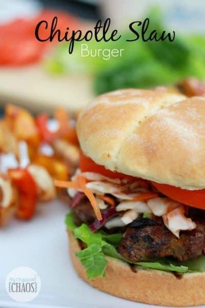 Chipotle Slaw Burger