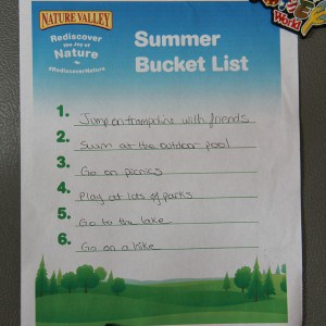 Summer Activity Bucket List #RediscoverNature