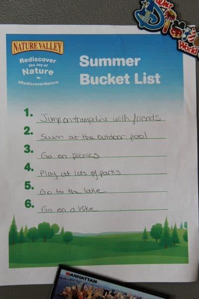 Summer Activity Bucket List #RediscoverNature