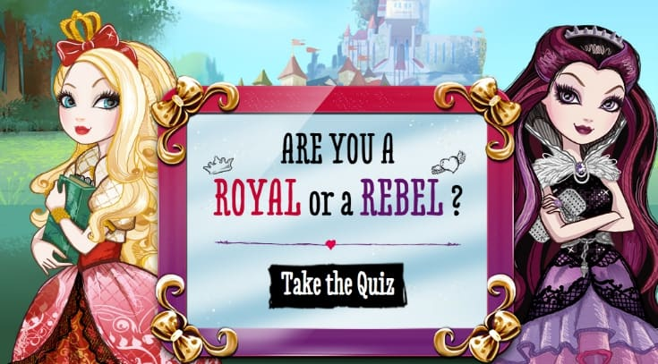 ever after high royal rebel quiz