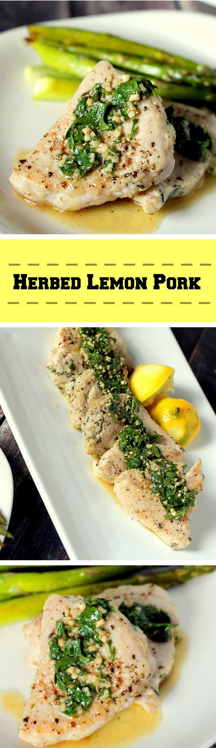 herbed lemon pork recipe