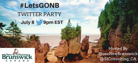letsgoNB twitter party blogger travel retreat