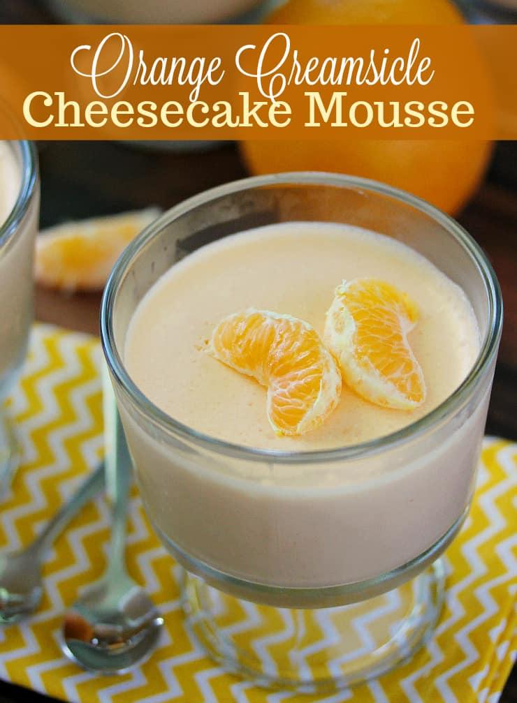 Orange Creamsicle Cheesecake Mousse
