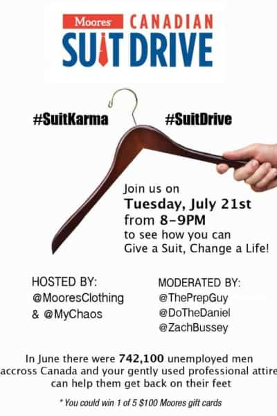 Pay it Forward with the Canadian #SuitDrive and Moores